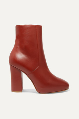 Dries Van Noten Leather Ankle Boots - Brick