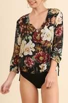 Umgee USA Floral Print Bodysuit