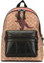 Coach dinosaur print backpack
