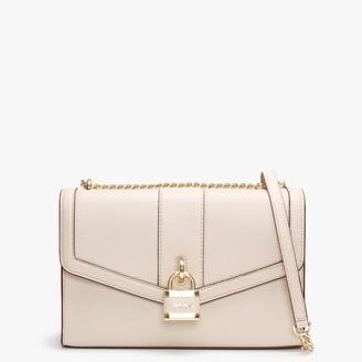 DKNY Large Ella Eggshell Leather Shoulder Bag