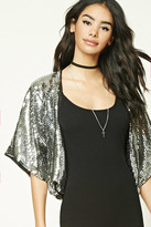 Forever 21 FOREVER 21+ Sequined Cropped Jacket