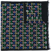 Paul Smith multicolour teardrop stitched scarf