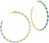 Thumbnail for your product : Sterling Forever 14K Plated Hoops
