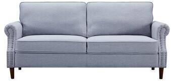 Thumbnail for your product : Winston Porter Abbygayl 76.4'' Velvet Flared Arm Sofa Fabric: Light Gray Velvet