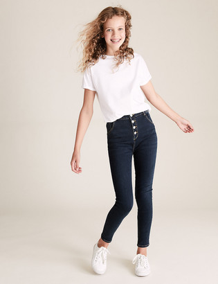 Marks and Spencer Mini Ivy Skinny High Waisted Jeans (6-16 Yrs)