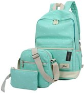 Greeniris Women Faux Leather Backpack Drawstring Shoulder Bag for Women/School Teenage Girls