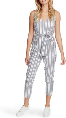 1 STATE Stripe Tapered Leg Jumpsuit
