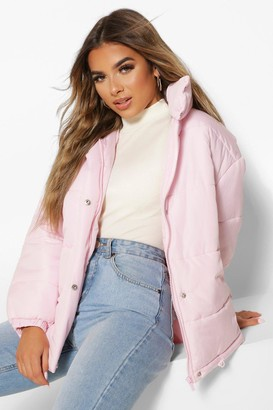 boohoo Petite Pocket Detail Padded Jacket