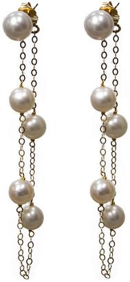 BELPEARL 14K 6-7Mm Pearl Earrings