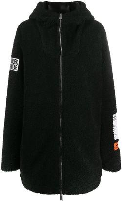 Heron Preston Oversized Hooded Coat