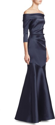 Theia Off-The-Shoulder Mermaid Gown