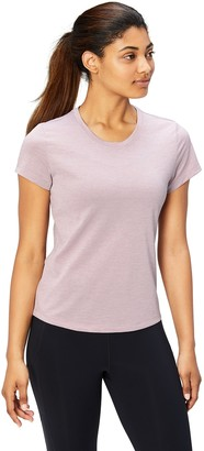 Core 10 Womens Plus Size Essential Fitted Cap Sleeve Performance T-Shirt