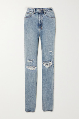 Ksubi Playback Vibez Trashed Distressed High-rise Jeans - Light denim