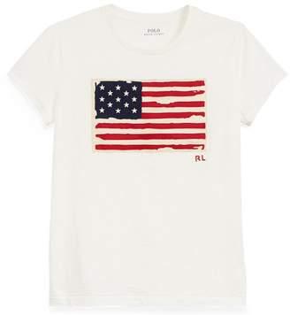 Ralph Lauren Flag Jersey Graphic T-Shirt