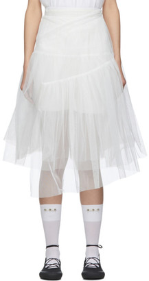 SHUSHU/TONG SSENSE Exclusive White 2 Layer Skirt