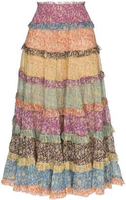 Zimmermann Carnaby tiered midi skirt