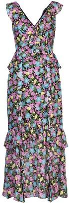 AMUR Evita floral-print dress