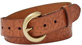 Fossil Women's Floral Floral Embossed Leather Belt
