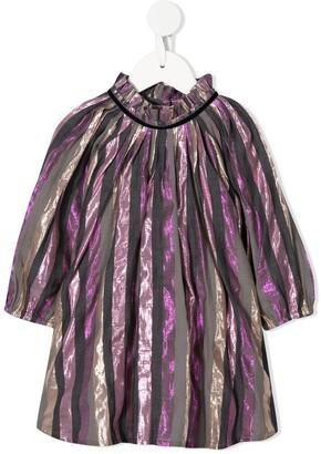 Velveteen Tiffany metallic-effect dress