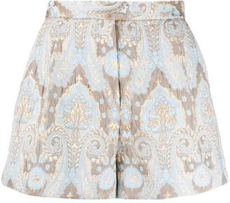 Sandro Paris Ori jacquard shorts
