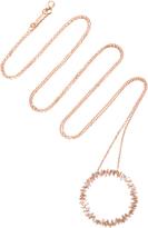 Suzanne Kalan 18K Rose Gold Diamond Necklace