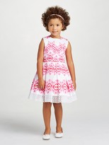 Oscar de la Renta Ikat Cotton Party Dress