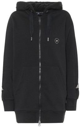 adidas by Stella McCartney Logo cotton-blend jersey hoodie