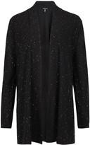Eileen Fisher Black Sequin-embellished Merino Wool Cardigan
