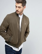Jack Wills Rame Bomber Jacket in Olive