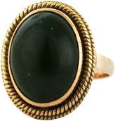 One Kings Lane Vintage Georgian-Style 14K Gold & Jade Ring