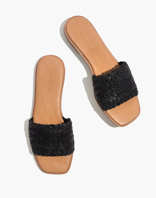 Madewell The Lianne Slide in Woven Leather