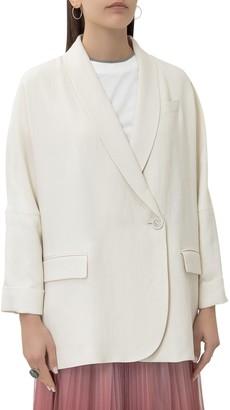 Brunello Cucinelli Oversized Single Breasted Blazer