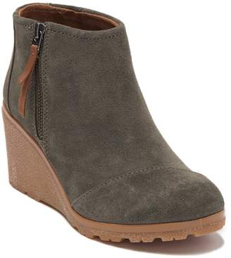 Toms Avery Suede Wedge Bootie