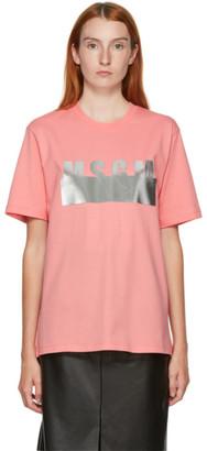 MSGM Pink Degrade T-Shirt