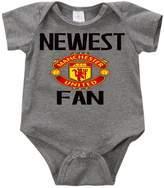VRW Newest Manchester UTD fan baby unisex Onesie Romper Bodysuit (6months, )