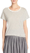 Vince Classic Stripe Relaxed Pima Cotton Tee