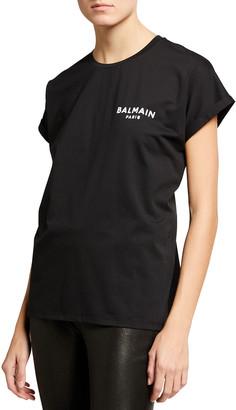 Balmain Flocked Logo Eco T-Shirt