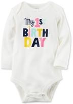 Carter's My 1st Birthday Cotton Bodysuit, Baby Girls (0-24 months)
