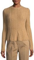 Max Mara Cable-Knit Crewneck Sweater