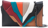 Elena Ghisellini colour block clutch bag