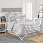 Bed Bath & Beyond Jill Rosenwald Quatrefoil European Pillow Sham in White/Grey