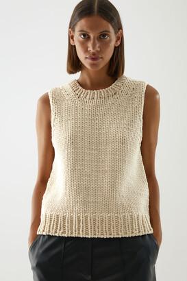 Cos Cotton Chunky Knit Vest