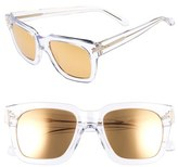 Linda Farrow Women's 52Mm Sunglasses - Clear/ Yellow Gold/ Gold