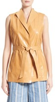 Lafayette 148 New York Women's Lark Belted Lambskin Leather Vest