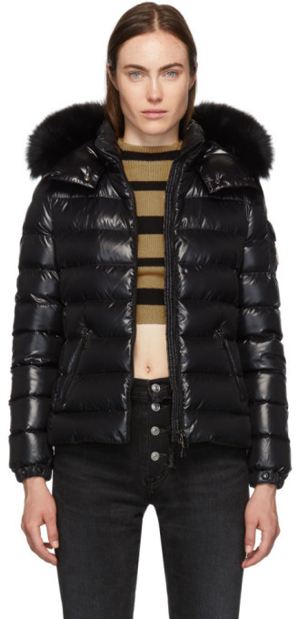 Moncler Black Down Baddyfur Jacket