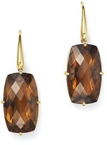 Roberto Coin 18K Yellow Gold Rectangular Drop Earrings with Citrine