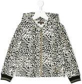 Roberto Cavalli leopard print hoodie - kids - Cotton/Spandex/Elastane - 3 yrs