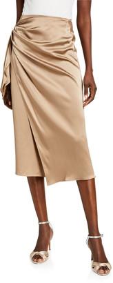 Cinq à Sept Mya Silk Side-Tie Skirt