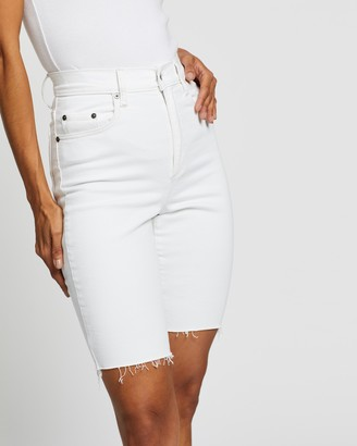 Nobody Denim Women's White Denim - Frankie Bermuda Shorts - Size 24 at The Iconic