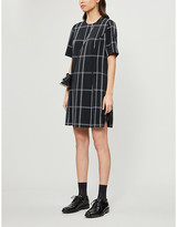 Ted Baker Astryd checked crepe playsuit